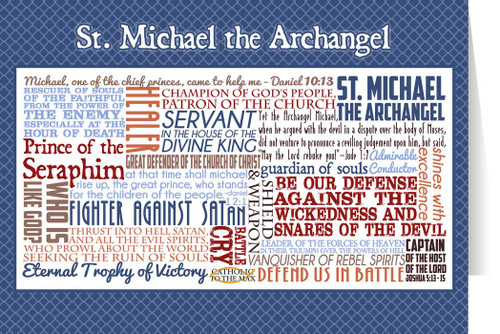 Saint Michael the Archangel Quote Card