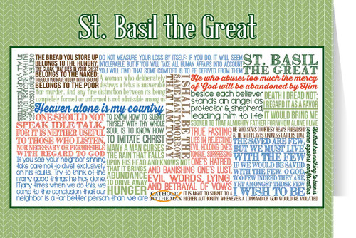 Saint Basil the Great Quote Card