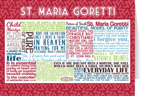 Saint Maria Goretti Quote Card