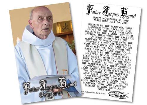 Fr. Jacques Hamel Martyr Holy Card
