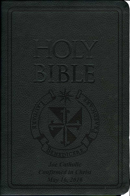 Laser Embossed Catholic Bible with Dominican Cover - Black NABRE