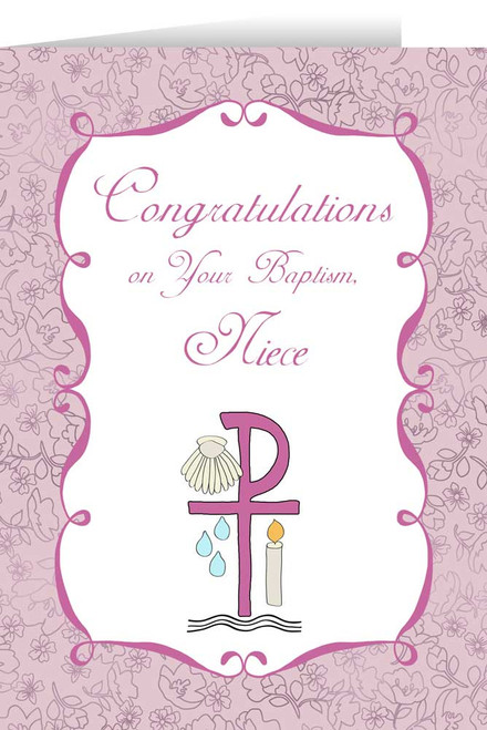 Niece's Baptism Greeting Card