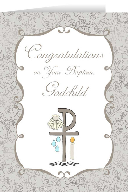 Godchild's Baptism Greeting Card