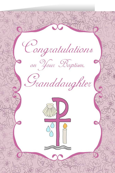 Granddaughter's Baptism Greeting Card