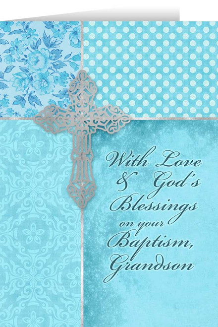 Grandson, On Your Baptism Greeting Card