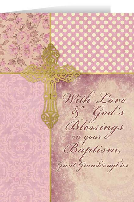 Great Granddaughter, On Your Baptism Greeting Card