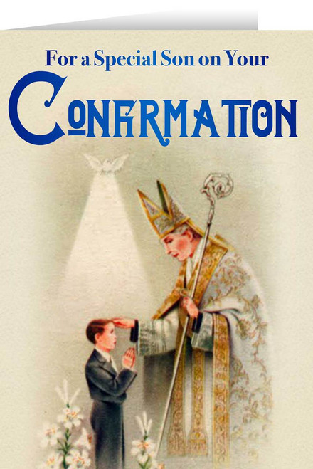 Son's Confirmation Greeting Card