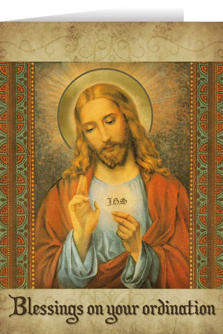 Eucharistic Ordination Greeting Card