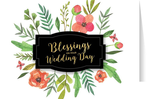 Blessings on Your Wedding Day Greeting Card
