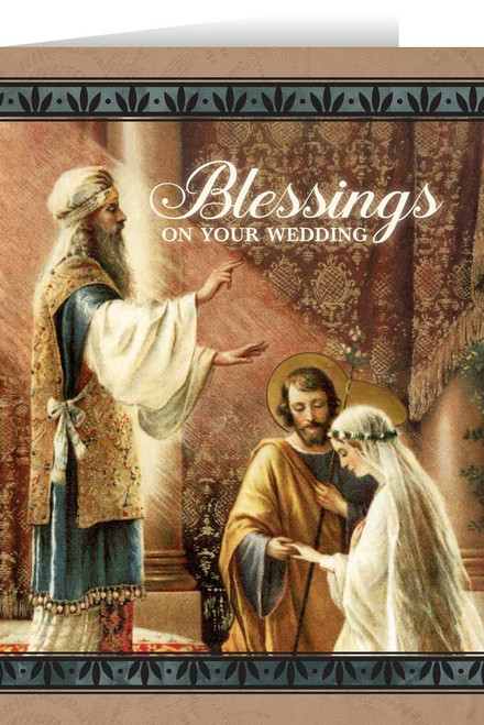 Mary & St. Joseph Wedding Greeting Card