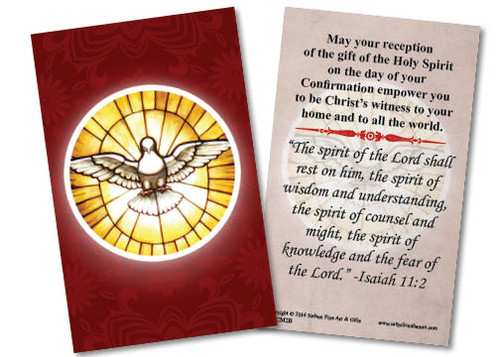 Holy Spirit Confirmation Holy Card II