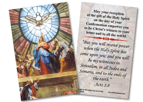 Pentecost by Jean II Restout Confirmation Holy Card