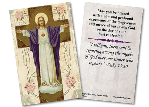 Resurrection First Reconciliation Holy Card