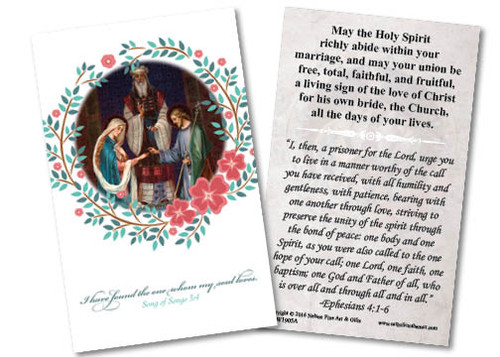 Wedding of Joseph and Mary Wedding Holy Card