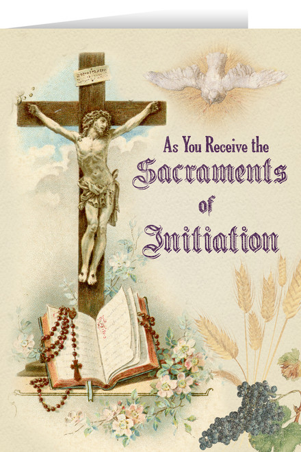 Crucifix RCIA Greeting Card