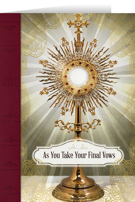 Eucharist Final Vows Greeting Card