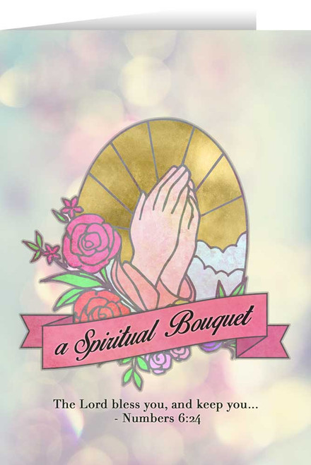 Stained Glass Spiritual Bouquet Greeting Card