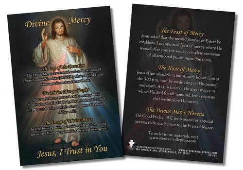 Divine Mercy Faith Explained Card
