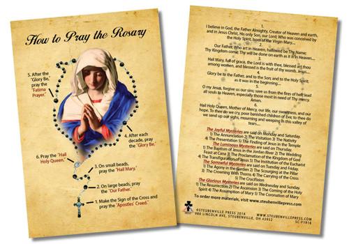 How to Pray the Rosary Faith Explained Card