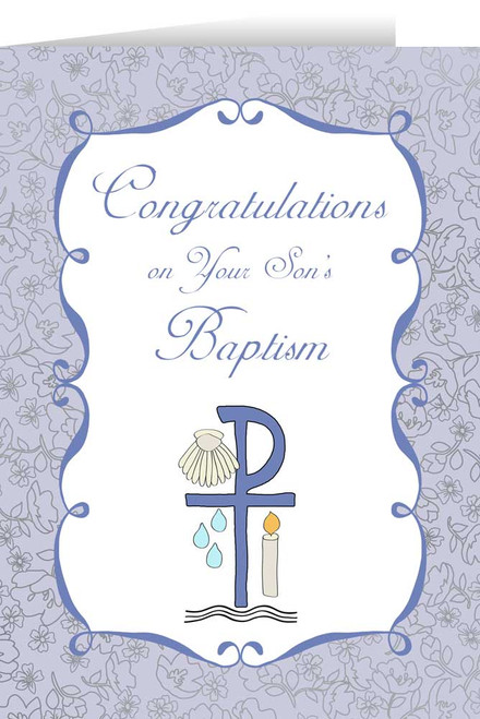 On Your Son's Baptism Greeting Card