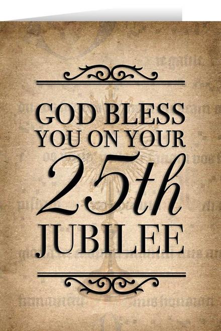 Monstrance 25th Jubilee Greeting Card