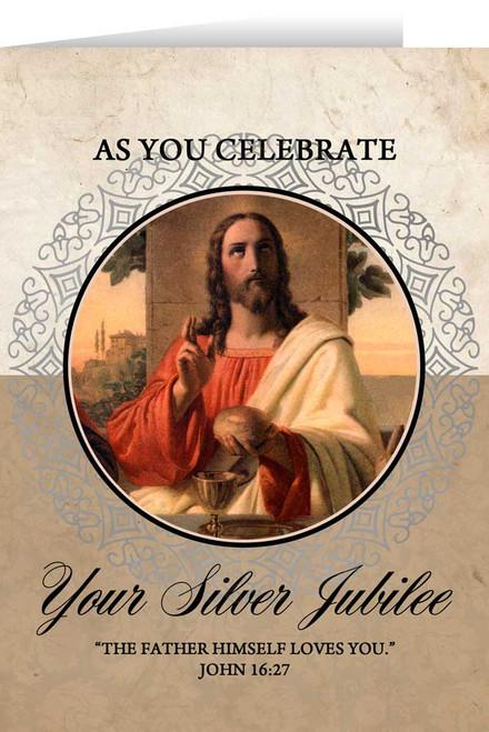Last Supper Silver Jubilee Greeting Card