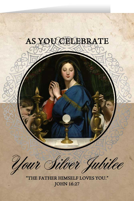 Madonna of the Host Silver Jubilee Greeting Card