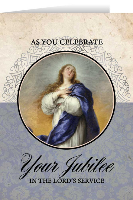 Immaculate Conception Jubilee Greeting Card