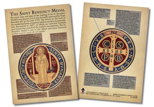 Saint Benedict Medal Faith Explained Card