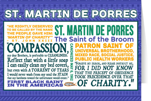 Saint Martin de Porres Quote Card