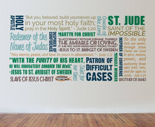 Saint Jude Quote Wall Decal