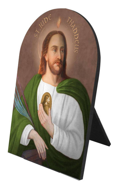 Saint Jude Arched Desk Plaque