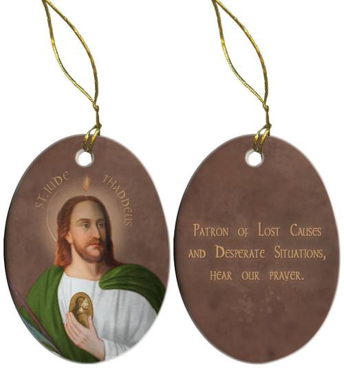 Saint Jude Porcelain Ornament