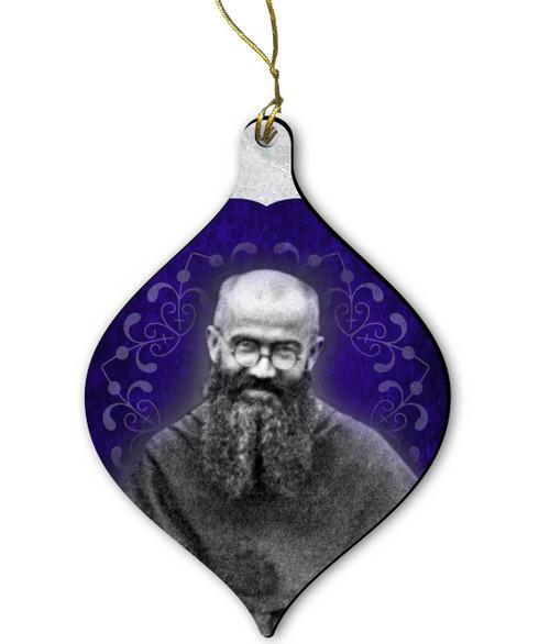 Saint Maximilian Kolbe Wood Ornament