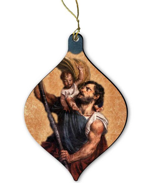 Saint Christopher Wood Ornament