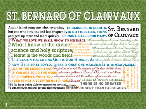 Saint Bernard of Clairvaux Quote Poster