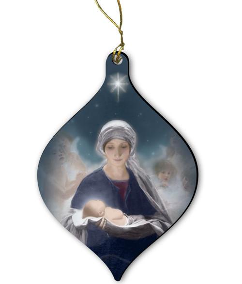 Star of Bethlehem Wood Ornament