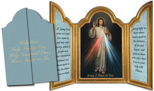 Divine Mercy Tri-fold Triptych Cards (Set of 12)