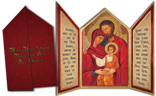 Holy Family Icon Tri-fold Triptych Cards (Set of 12)