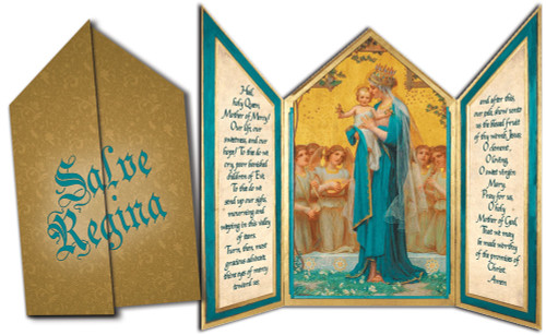 Madonna and Child by Enric M. Vidal Tri-fold Triptych Cards (Set of 12)