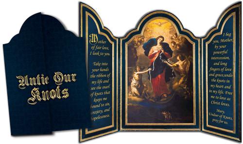Mary Undoer of Knots Tri-fold Triptych Cards (Set of 12)