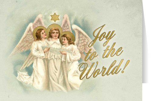 """Vintage Angels """"Joy to the World"""" Christmas Cards (box of 25)"""
