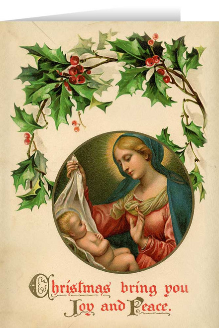 Vintage Madonna with Holly Christmas Cards (box of 25)