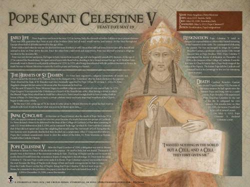Pope St. Celestine V Saints Explained Poster