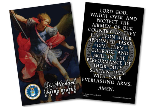 St. Michael Air Force Prayer Card