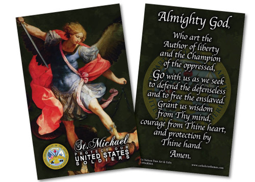 St. Michael Army Prayer Card