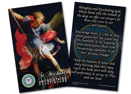 St. Michael Coast Gaurd Prayer Card
