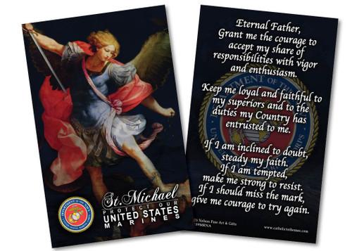 St. Michael Marine Corps Prayer Card