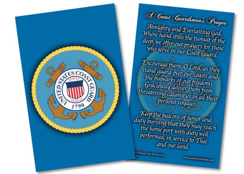 Coast Guard Prayer Card