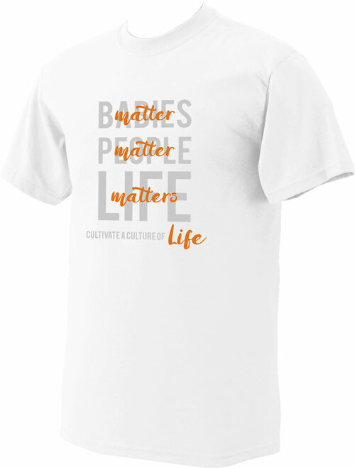 Culture of Life White Pro-Life T-Shirt